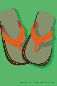 Flip Flop Picnic Poster