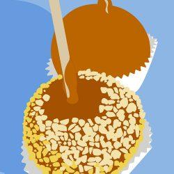 Caramel Apples Picnic Poster