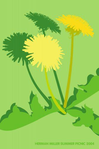Dandelion Picnic Poster