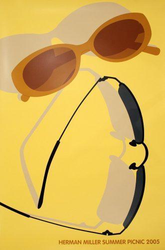 Sunglasses Picnic Poster