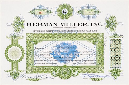 Herman Miller Stock Certificate