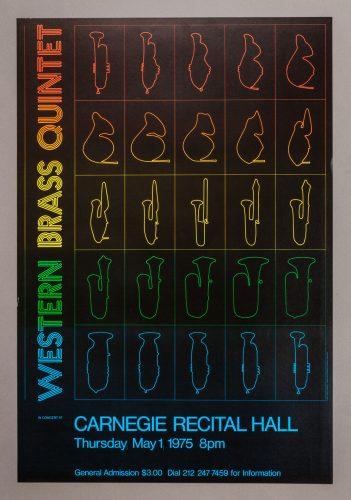 Western Brass Quintet Concert Poster