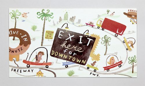 Exit Here for Downtown