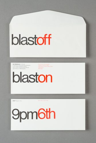 Blast Off Invitation