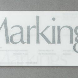Markings Exhibition Invitation