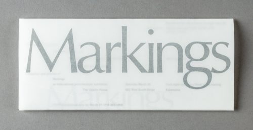 Markings Exhibition Invitation
