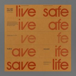 Live Safe/Save Life Poster