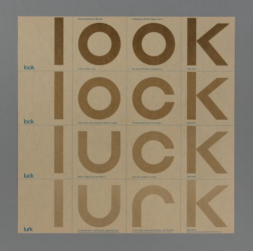 Look, Lock, Luck, Lurk Poster