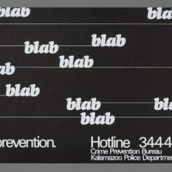 Talk About Crime Prevention Bus Card