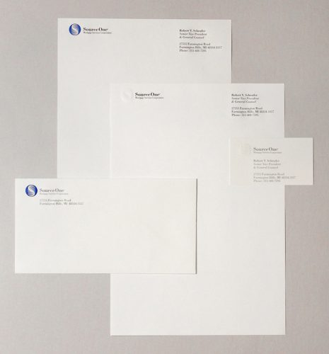 SourceOne Mortgage Service Stationery System