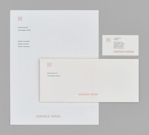Heritage Papers Stationery System