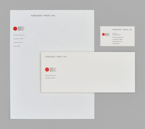 Foremost Press Stationery System
