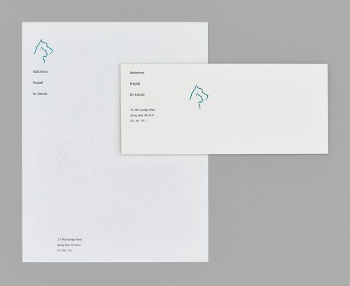 Harborfront Hospital for Animals Stationery System