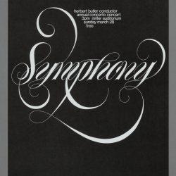 University Symphony Orchestra Concert Poster