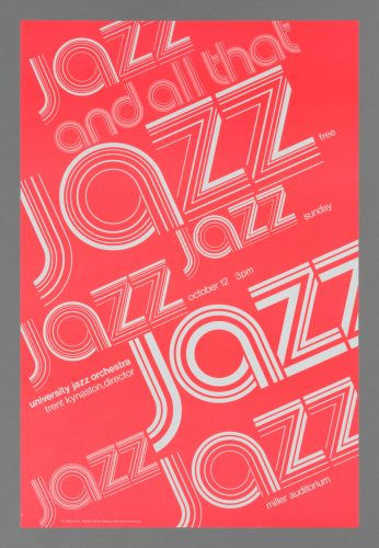 University Jazz Orchestra Concert Poster