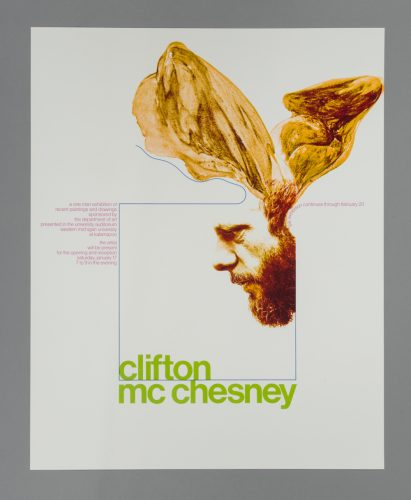 Clifton McChesney Exhibition Poster/Mailer