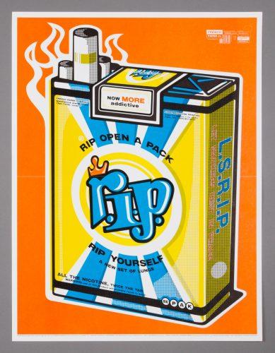 R.I.P. Cigarette Poster
