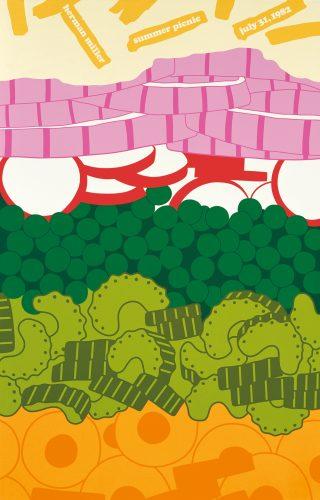 Seven Layered Salad Picnic Poster