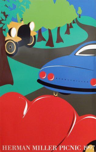 Cars Picnic Poster