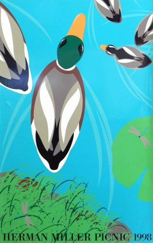 Duck Pond Picnic Poster