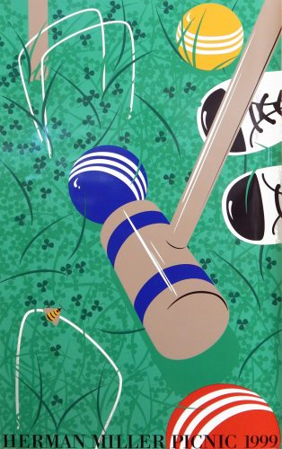 Croquet Picnic Poster