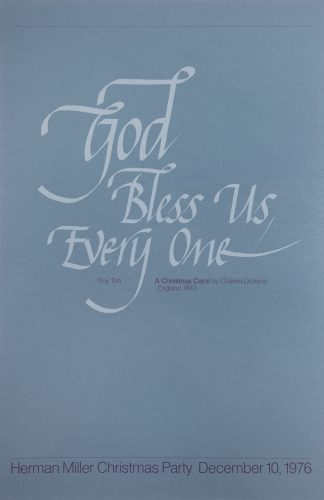God Bless Us Everyone Christmas Party Poster