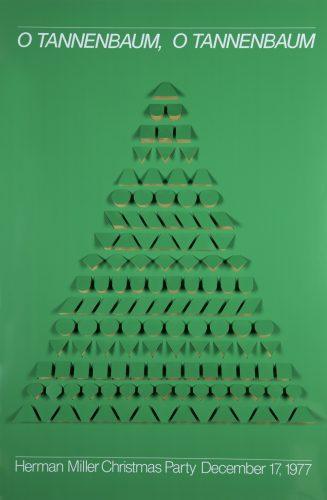 O Tannenbaum Christmas Party Poster