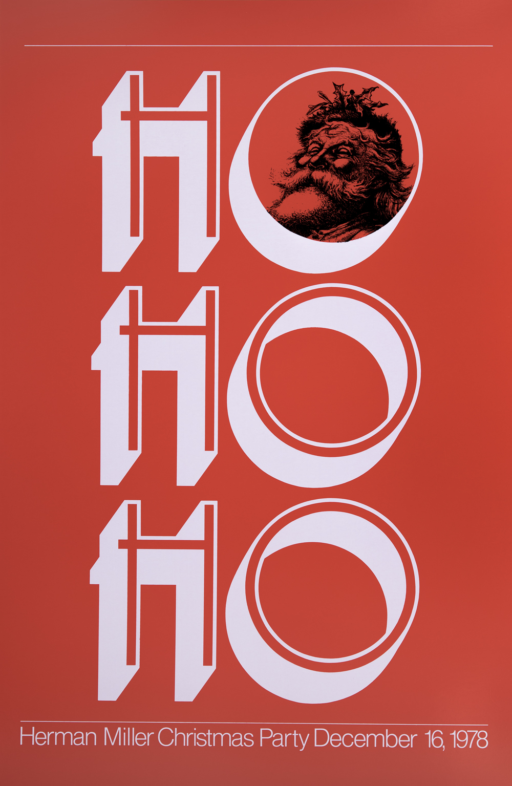 ho ho ho christmas party poster west michigan graphic design