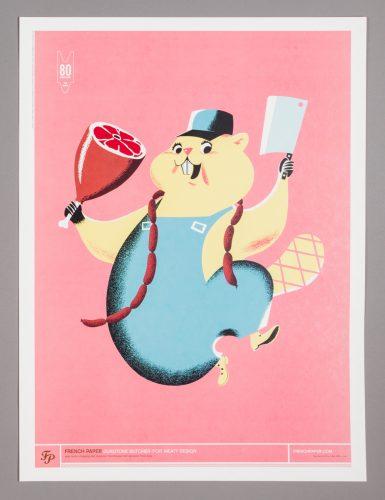 Beaver Butcher Poster